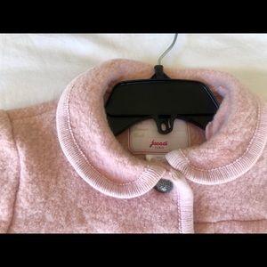 Jacadi pink 100% wool jacket size 10